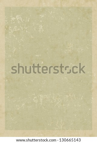 Old vintage blank card with frame. Grunge paper background - stock photo