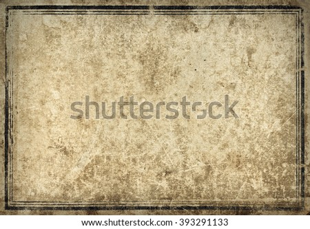 Old vintage book cover with frame - stock photo