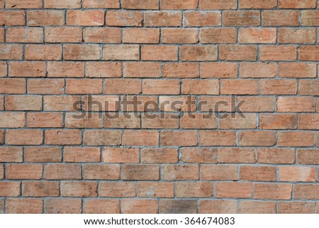 old vintage brick wall background - stock photo