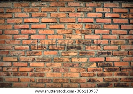 old vintage brick wall texture Background - stock photo