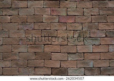 Old vintage brickwall street rusty grunge aged rough wall background texture - stock photo