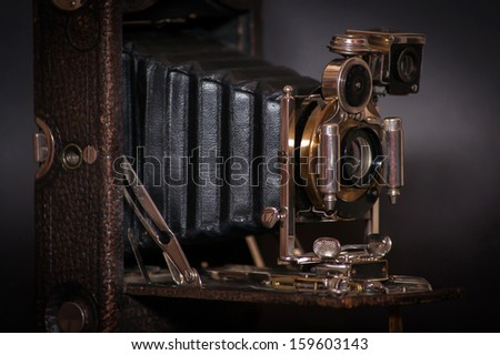 Old vintage camera  - stock photo