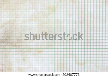 Old vintage dirty graph paper - stock photo