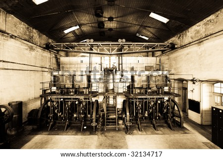 old vintage factory - stock photo