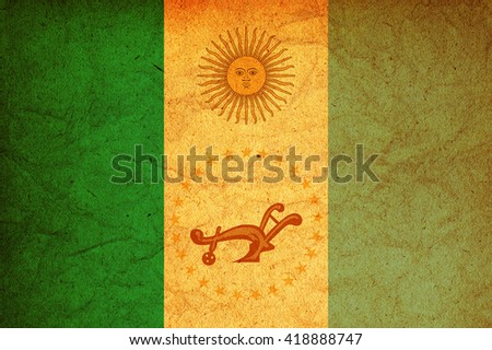 old vintage flag of one of administrative divisions of argentina called chaco - stock photo