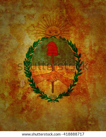 old vintage flag of one of administrative divisions of argentina called jujuy - stock photo