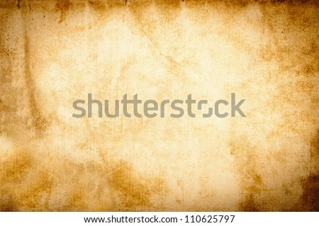 Old vintage grunge parchment brown - stock photo