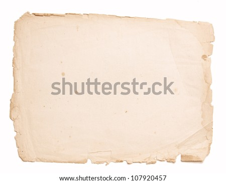 old, vintage paper - stock photo