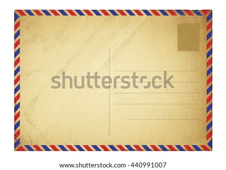old vintage paper, grunge paper background - stock photo