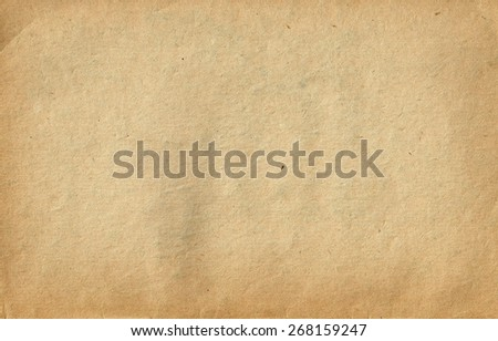 Old Vintage Paper Texture. Brown paper sheet. - stock photo