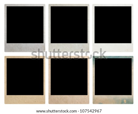 Old Vintage Photo Frames, isolated on white background (Save Paths For design work) - stock photo