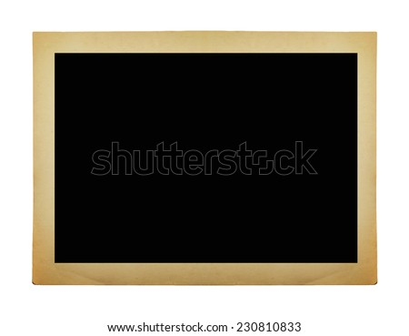 Old vintage photo on white background, clipping path, big collection  - stock photo