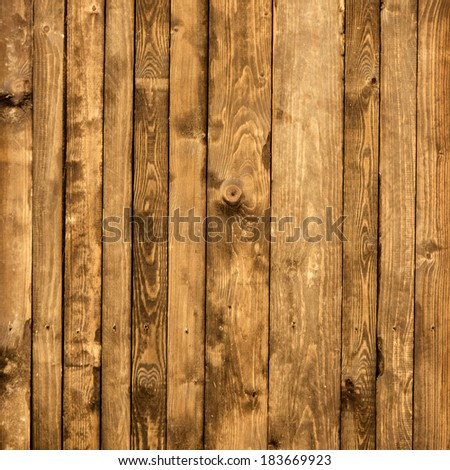 Old vintage planked wood board - rustic or rural background with text space - stock photo