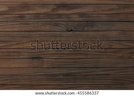 Old Vintage Planked Wood Texture Background. Top View of Rustic Wooden Wall Surface. Copy Space for Text or image. - stock photo