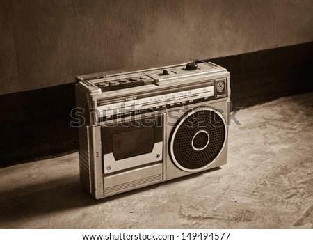 Old vintage Radio, classic style - stock photo
