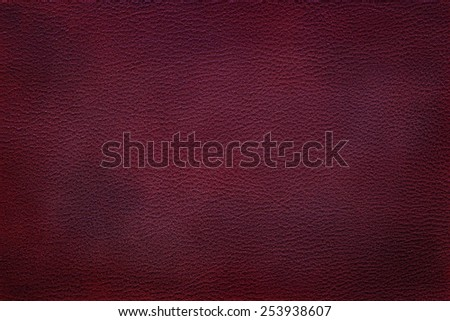 Old vintage red leather texture closeup can be used as background - stock photo