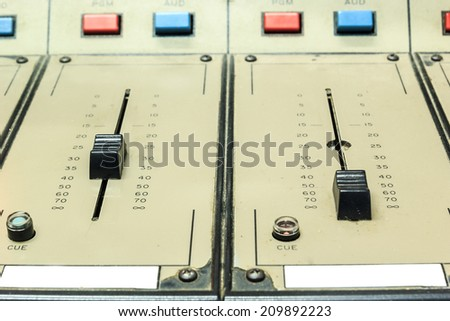 Old/vintage sound controller - stock photo