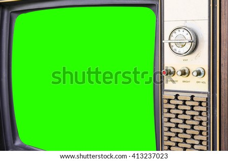 Old vintage television  - stock photo
