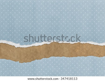 Old vintage torn paper texture background - stock photo