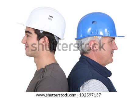 Old vs. young - stock photo