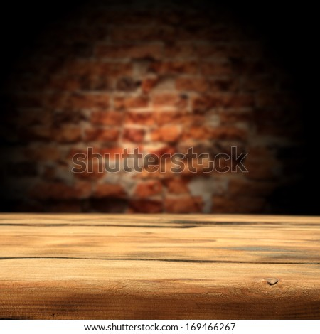 old wall and table  - stock photo