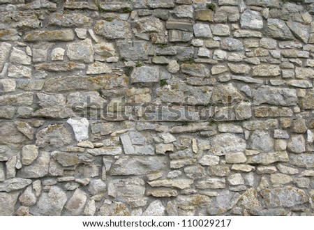 old wall from a stone - stock photo