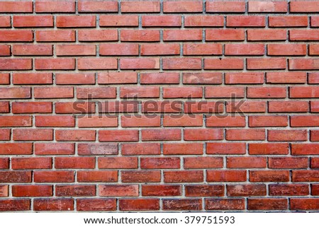 Old wall of red briks tiled background - stock photo