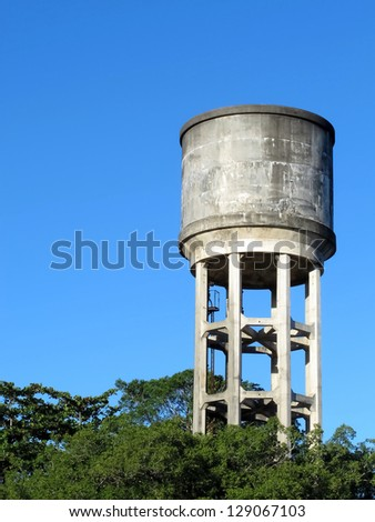 Old Water Tank - stock photo