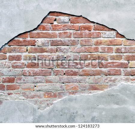 Old weathered brick wall - stock photo
