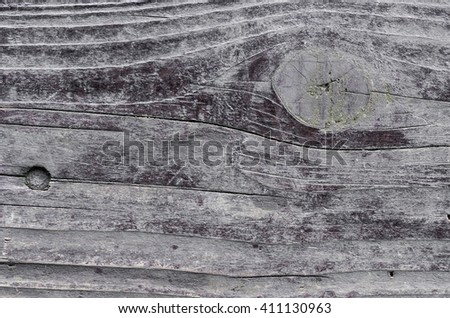 old weathered grey plank - stock photo