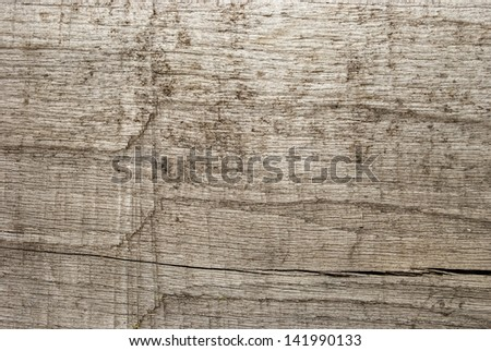 Old weathered grey wooden board as background - stock photo