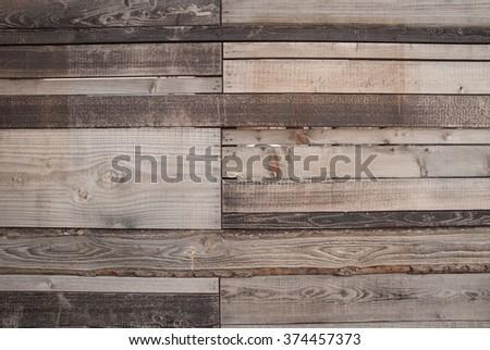 old weathered multi size planks wood background vintage texture  - stock photo