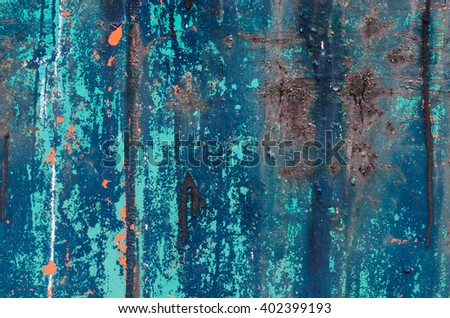 old weathered painted  metal background texture - stock photo