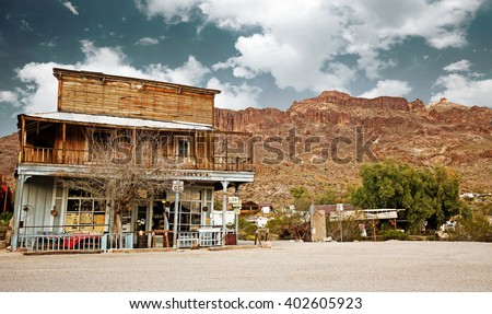 old west general store in the Arizona desert - stock photo