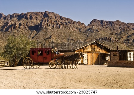 Old West Stagecoach - stock photo