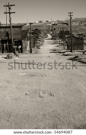 old western ghost town - stock photo