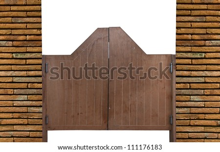 Old Western swinging saloon wooden doors - stock photo