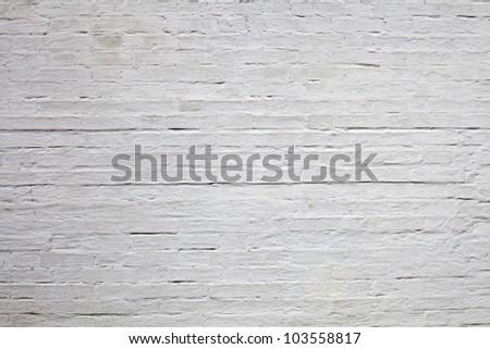 old white brick texture - stock photo