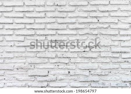 Old white brick wall - stock photo