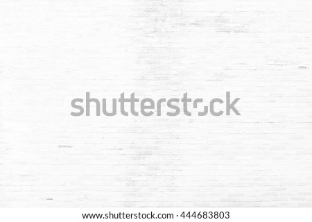 old white brick wall texture for background - stock photo