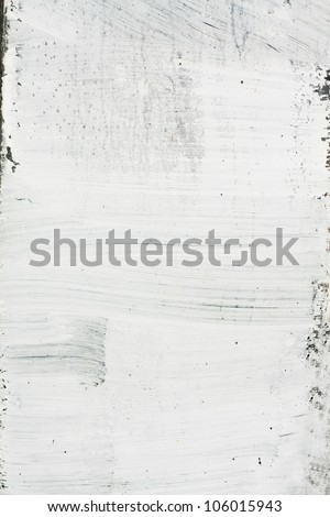 Old white grunge painted texture. - stock photo