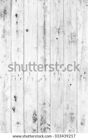 old white painted wood for background - stock photo
