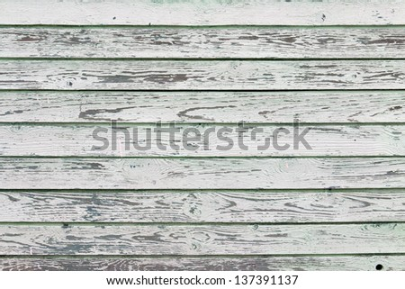 Old white painted wood wall - texture or background - stock photo