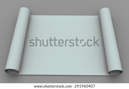 Old white scroll paper free for any text - stock photo