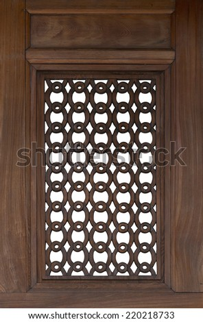 old windows isolated with clipped path - stock photo