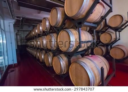 old wine cellar - stock photo