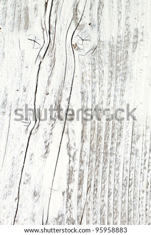 Old Wood Background painted white - stock photo