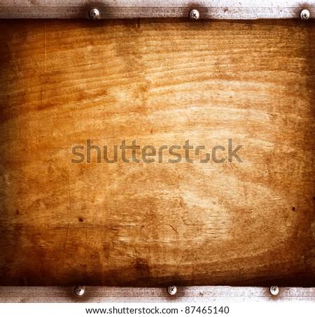 Old wood board - stock photo