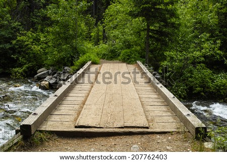 Old Wood Bridge - stock photo
