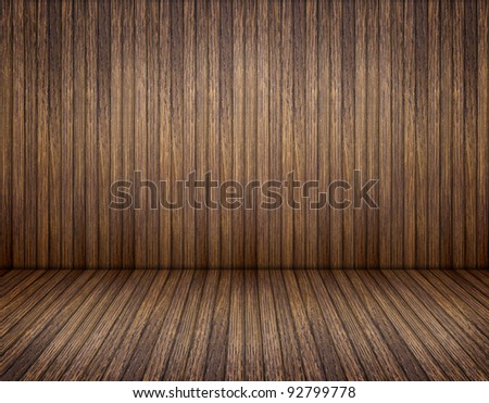 old wood brown room - stock photo
